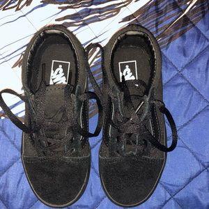 Sneakers boys black vans size 11